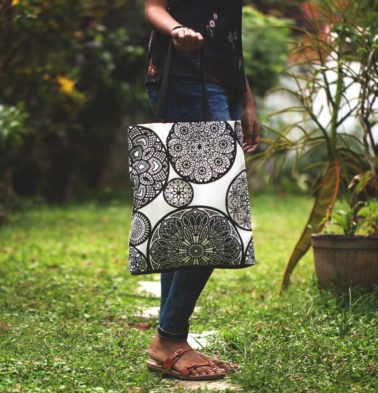 Dreamcatcher Cotton Tote Bag Black