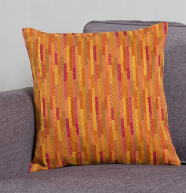Vermilion Tiles Cotton Cushion cover Orange 18