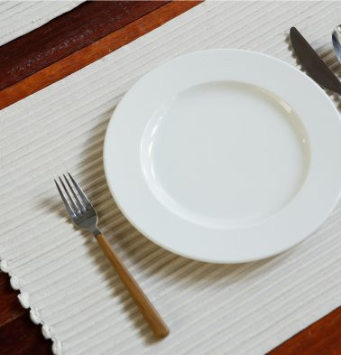 Handwoven Cotton Table Mats Star White - Set of 6