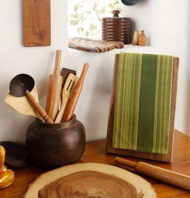 Honeycomb Cotton Kitchen Towel Green