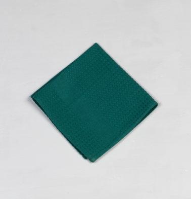 Honeycomb Cotton Dish Towel Ivy Green