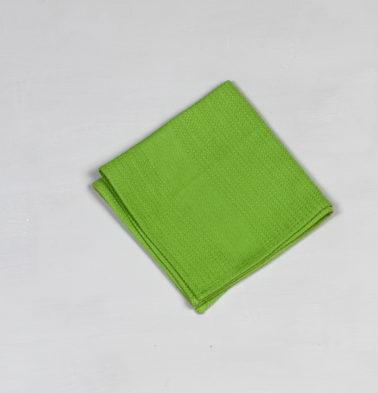 Honeycomb Cotton Dish Towel Parrot Green