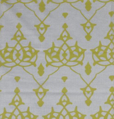 Arabic Chevron Cotton Sheer Custom Curtain Lemon Yellow