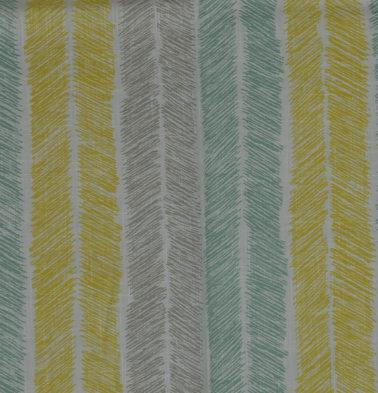 Muted Chevron Stroke Cotton Sheer Custom Curtain