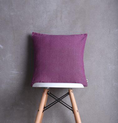 Chambray Cotton Cushion cover Argyle Purple 16
