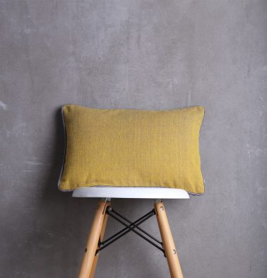 Chambray Cotton Cushion cover Golden Yellow 12