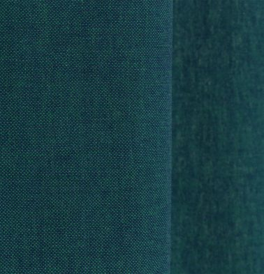 Chambray Cotton Custom Stitched Cloth Ocean Depth Green