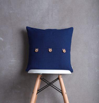 Classic Cotton Cushion cover Blue Depth 16