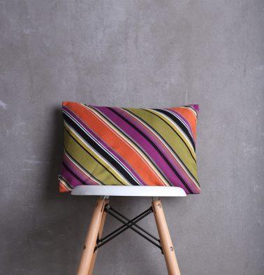 Diagonal Stripes Cotton Cushion cover Multicolour 12