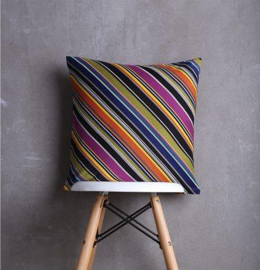 Diagonal Stripes Cushion cover Multicolour 18