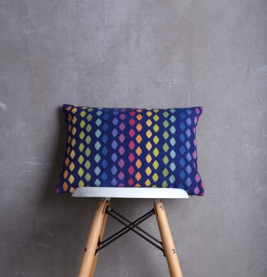 Diamonds Cotton Cushion cover Blue  12