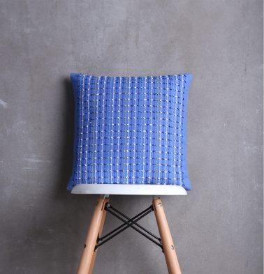 Handwoven Cotton Cushion cover Bluebriar 16