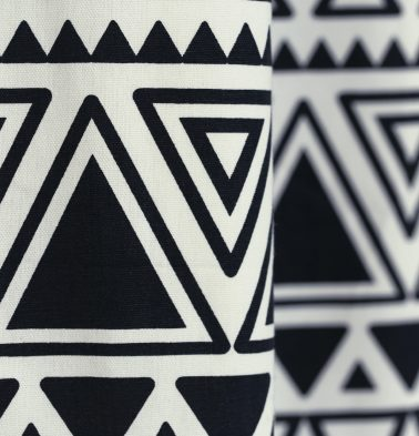 Magic Triangle Cotton Custom Floor Cushion Black