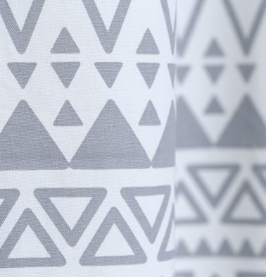 Magic Triangle Cotton Custom Floor Cushion Grey