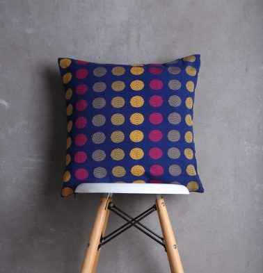 Polka Cotton Cushion cover Blue 18