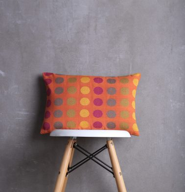 Polka Cotton Cushion cover Orange  12