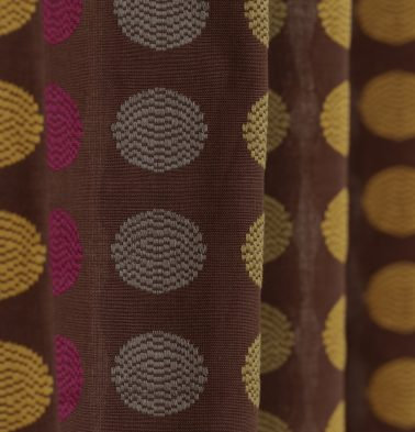 Polka Cotton Custom Floor Cushion Brown