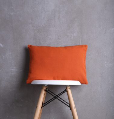 Solid Cotton Cushion cover Flame Orange 12