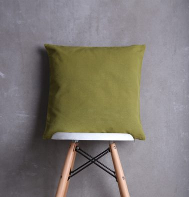 Solid Cotton Cushion cover Moss Green 18
