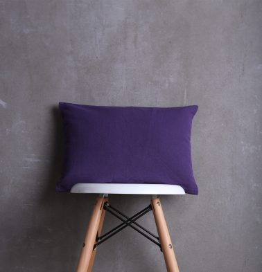 Solid Cotton Cushion cover Violet 12