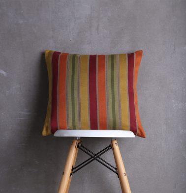 Striped Satin Cotton Cushion cover Multicolour 18