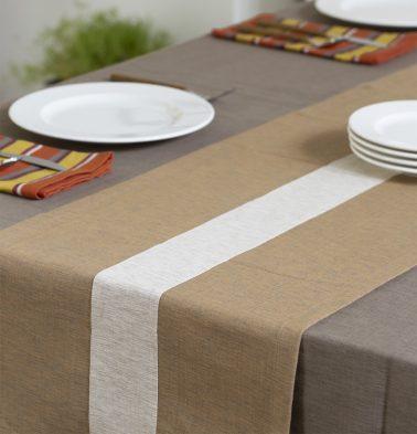 Textura Cotton Table Runner Pale Hay/Beige 14