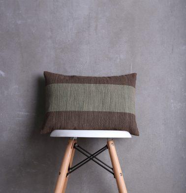 Textura Stripes Cotton Cushion cover Brown 12