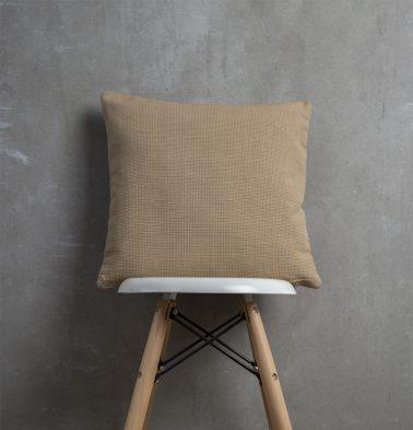Handwoven Cotton Cushion cover Khaki Brown 18