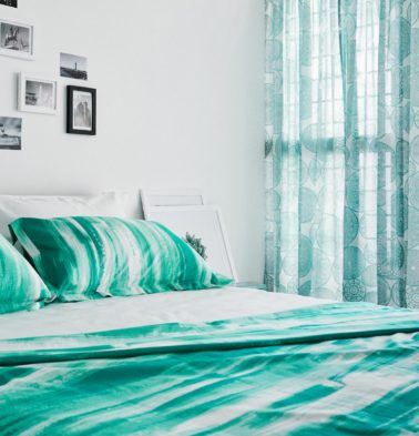 Brushstroke Cotton Duvet Cover Green