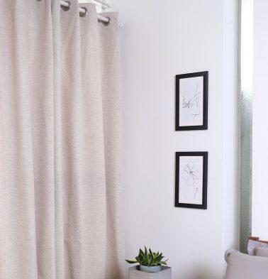 Textura Cotton Curtain Fog Beige