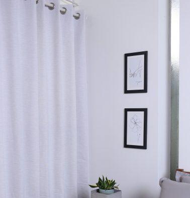 Textura Cotton Curtain Wind Chime White