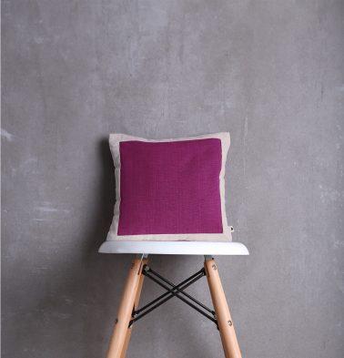 Textura Cotton Cushion cover Magenta/White 12
