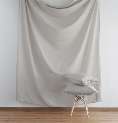 Linen Fitted Bedsheet Silver Grey