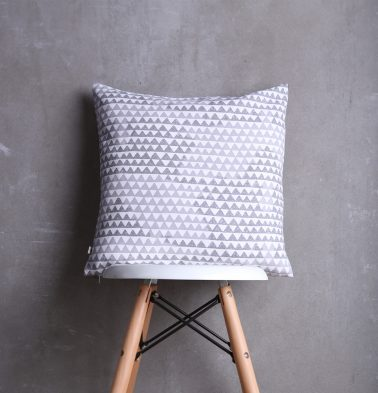 Star Triangles Cotton Cushion cover Grey 18