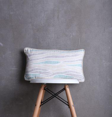 Wave Texture Cotton Cushion cover Sea Blue 10