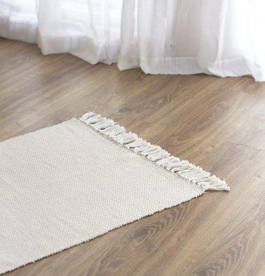 Handwoven Cotton Rug White 24