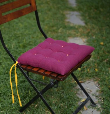 Textura Cotton Chairpad Magenta Haze