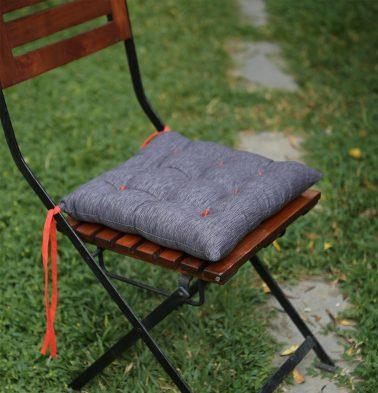 Textura  Cotton Chairpad Periscope Dark Grey