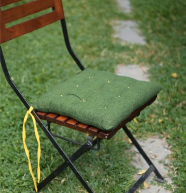 Textura Cotton Chairpad Cactus Green