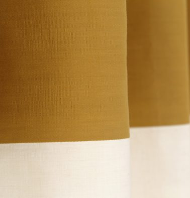 Broad Stripe Cotton Custom Blinds Mustard/White