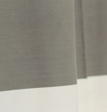 Broad Stripe Cotton Custom Blinds Grey/White