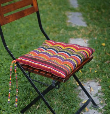 Cotton Chairpad Multi Stripe