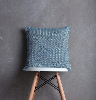 Handwoven Cotton Cushion Cover Dusk Blue