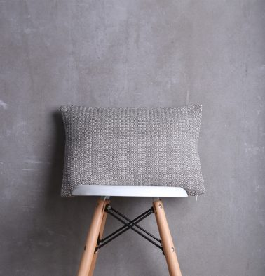 Handwoven Cotton Cushion cover Grey Line 12