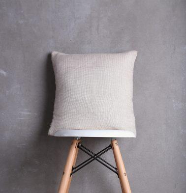 Linen Cushion cover Silver Grey 16