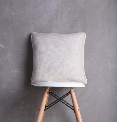 Linen Mesh Cushion cover Silver Grey 16