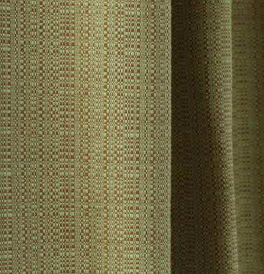 Moss Cotton Custom Blinds Green/Brown