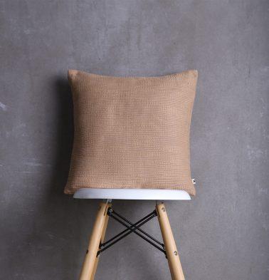 Slub Cotton Cushion cover Brown 16