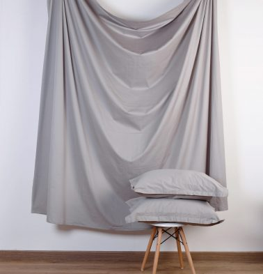Grey Cotton- Fitted Bedsheet