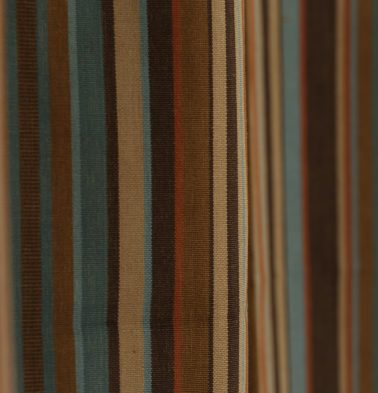 Stripe Cotton Fabric Brown